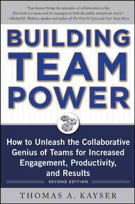 Building Team Power By Kayser, Thomas